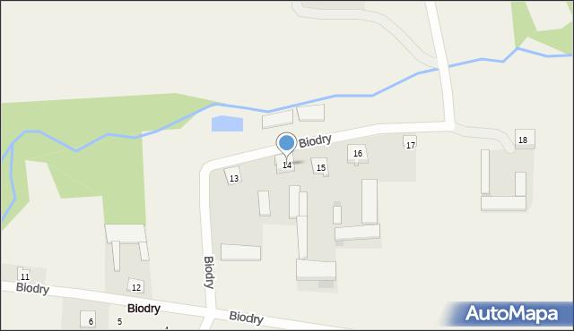 Biodry, Biodry, 14, mapa Biodry