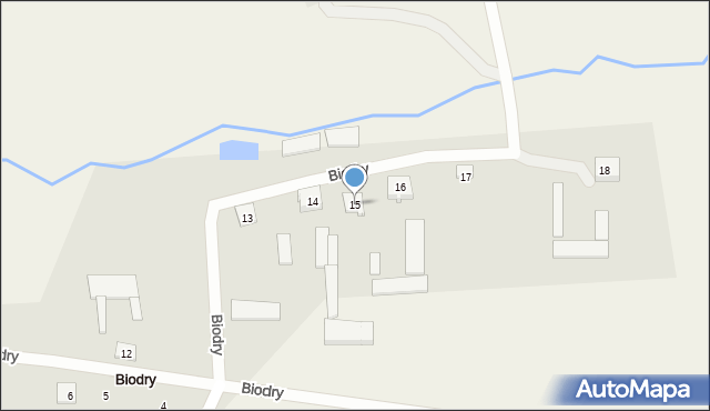 Biodry, Biodry, 15, mapa Biodry