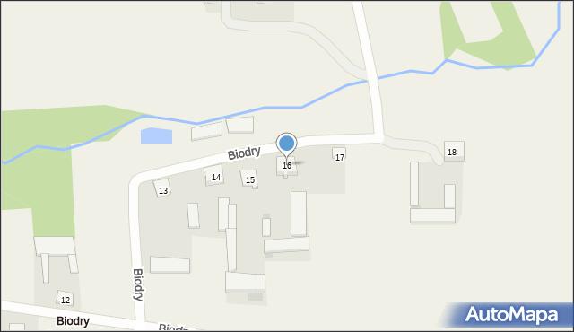 Biodry, Biodry, 16, mapa Biodry