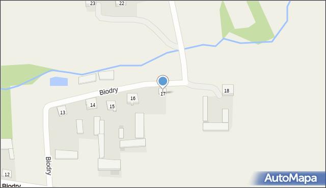 Biodry, Biodry, 17, mapa Biodry
