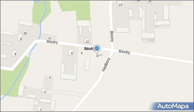 Biodry, Biodry, 4, mapa Biodry