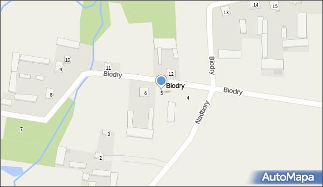 Biodry, Biodry, 5, mapa Biodry