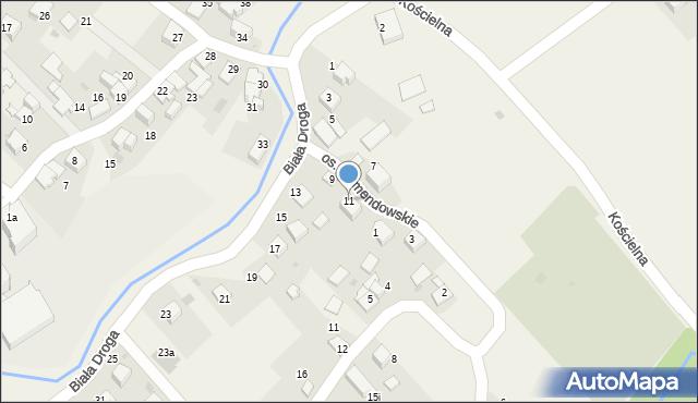 Chocznia, Biała Droga, 11, mapa Chocznia
