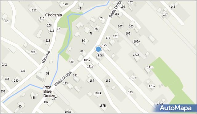 Chocznia, Biała Droga, 181, mapa Chocznia