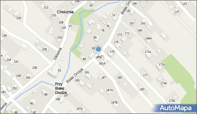 Chocznia, Biała Droga, 185a, mapa Chocznia