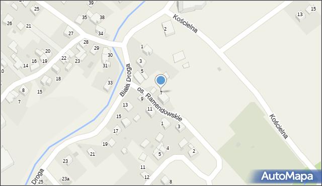 Chocznia, Biała Droga, 7, mapa Chocznia