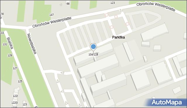 Częstochowa, Bialska, 104/118, mapa Częstochowy