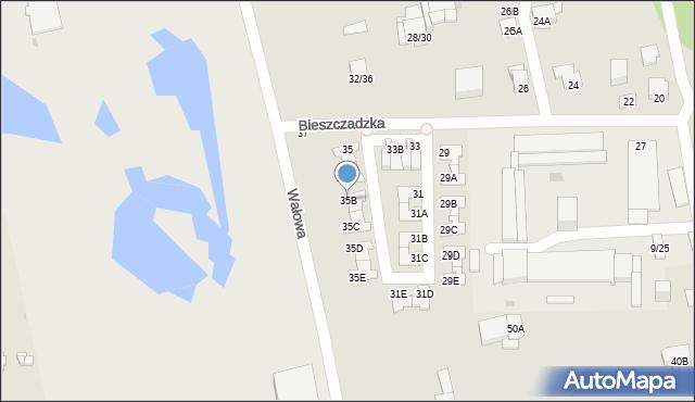 Częstochowa, Bieszczadzka, 35B, mapa Częstochowy