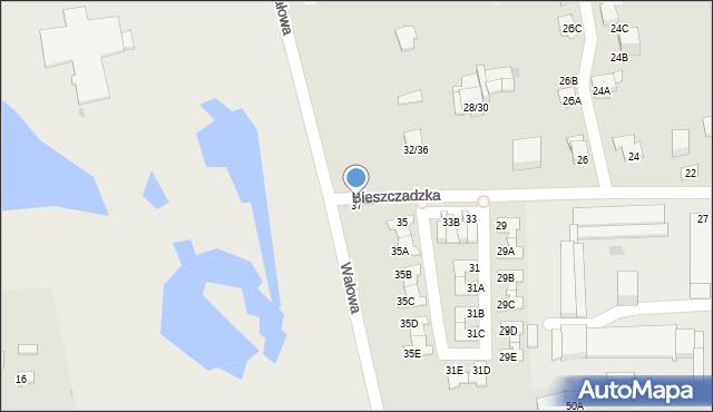 Częstochowa, Bieszczadzka, 37, mapa Częstochowy