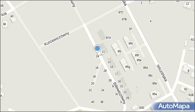 Gdynia, Billewiczówny Oleńki, 14, mapa Gdyni