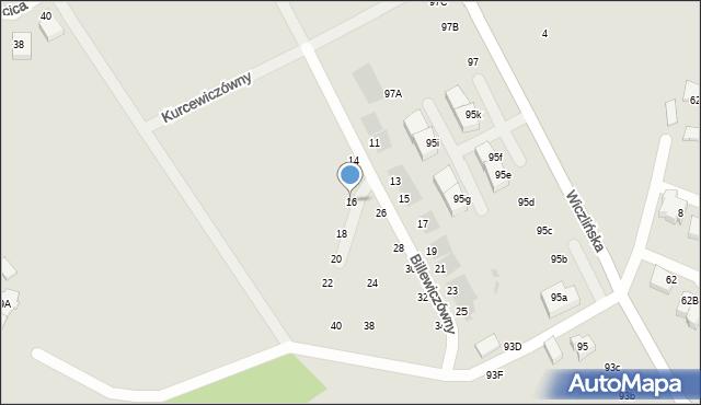 Gdynia, Billewiczówny Oleńki, 16, mapa Gdyni