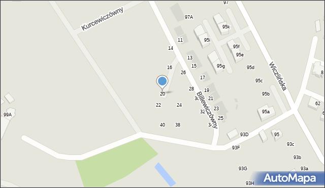 Gdynia, Billewiczówny Oleńki, 20, mapa Gdyni