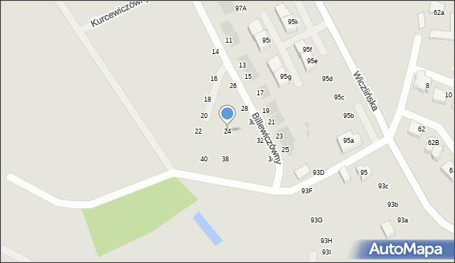 Gdynia, Billewiczówny Oleńki, 24, mapa Gdyni