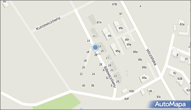 Gdynia, Billewiczówny Oleńki, 26, mapa Gdyni
