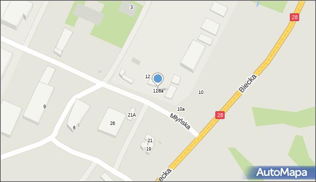 Gorlice, Biecka, 118a, mapa Gorlic