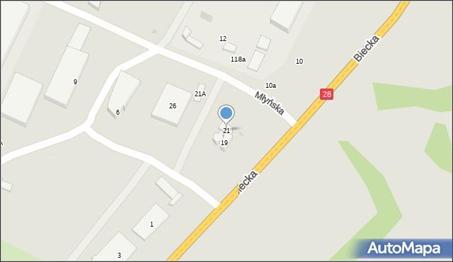 Gorlice, Biecka, 21, mapa Gorlic