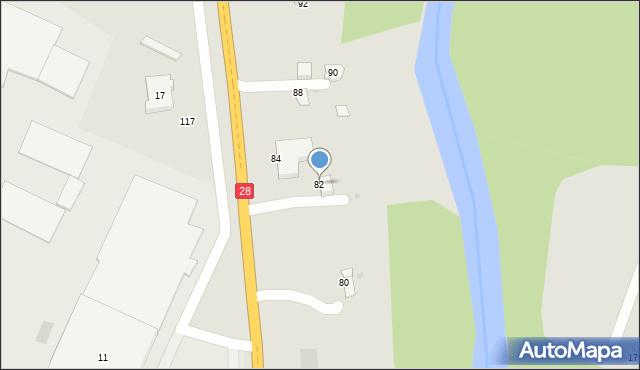 Gorlice, Biecka, 82, mapa Gorlic