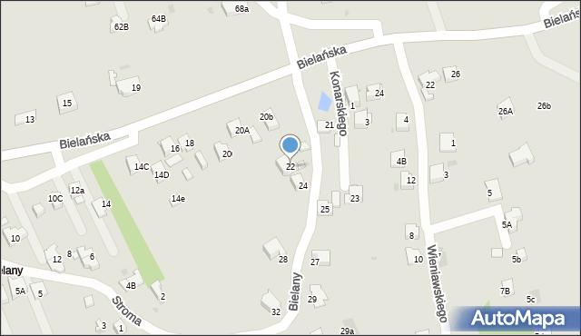 Jaworzno, Bielany, 22, mapa Jaworzno