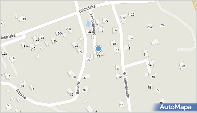 Jaworzno, Bielany, 23, mapa Jaworzno