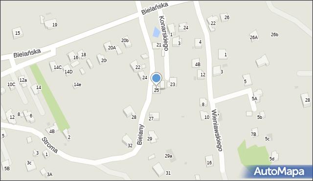 Jaworzno, Bielany, 25, mapa Jaworzno