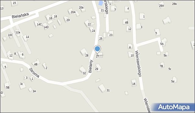 Jaworzno, Bielany, 27, mapa Jaworzno