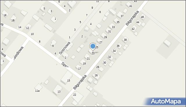 Księżpol, Biłgorajska, 23, mapa Księżpol