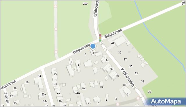Łódź, Biegunowa, 4, mapa Łodzi