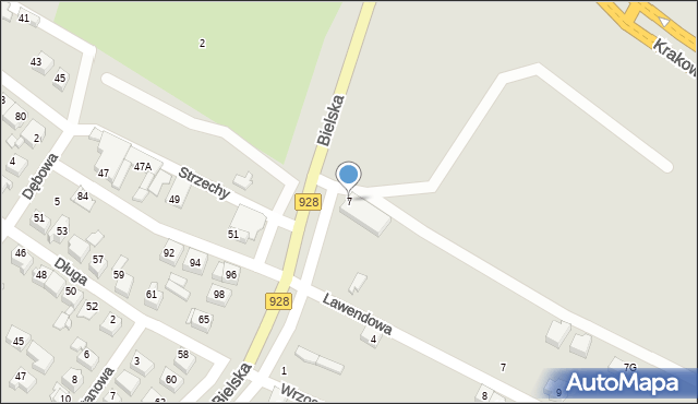 Mikołów, Bielska, 7, mapa Mikołów