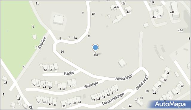 Przemyśl, Bielskiego Marcina, 38a, mapa Przemyśla