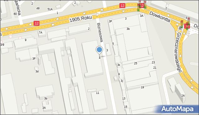 Radom, Biznesowa, 4, mapa Radomia