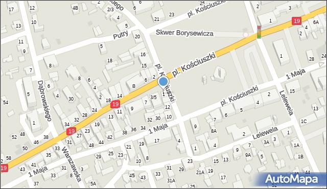 Sokółka, Białostocka, 1, mapa Sokółka