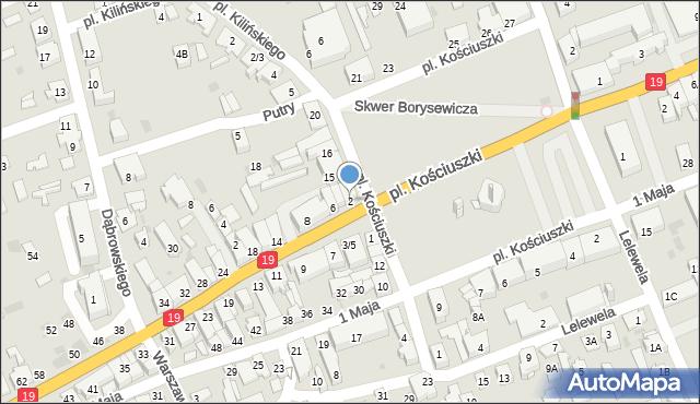 Sokółka, Białostocka, 2, mapa Sokółka