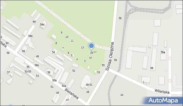 Toruń, Bielańska, 15, mapa Torunia