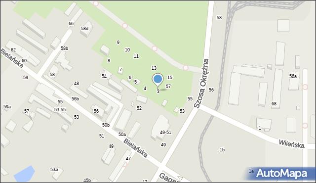 Toruń, Bielańska, 3, mapa Torunia