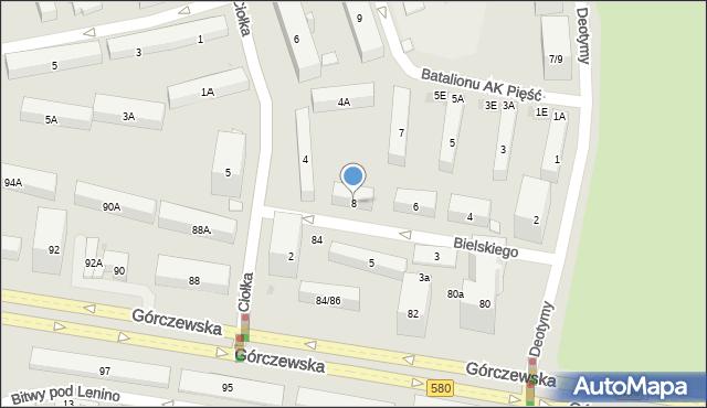 Warszawa, Bielskiego Marcina, 8, mapa Warszawy
