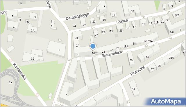Warszawa, Bieniewicka, 26, mapa Warszawy