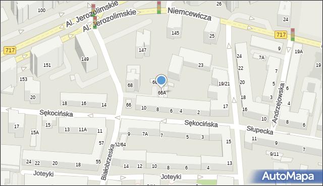 Warszawa, Białobrzeska, 66A, mapa Warszawy