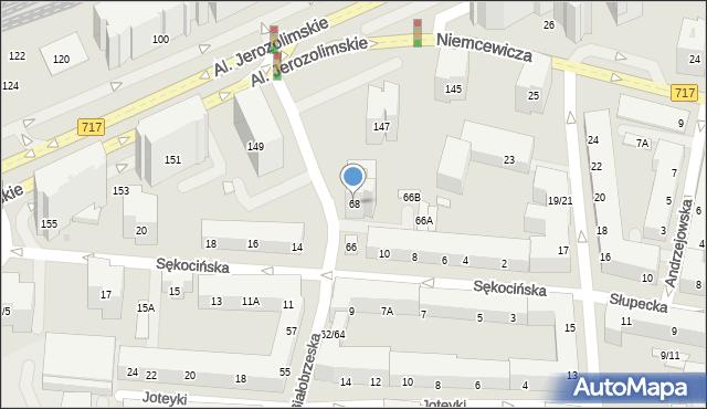 Warszawa, Białobrzeska, 68, mapa Warszawy