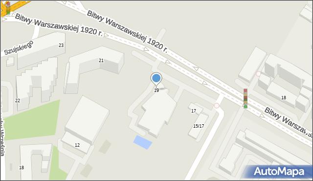 Warszawa, Bitwy Warszawskiej 1920 r., 19, mapa Warszawy