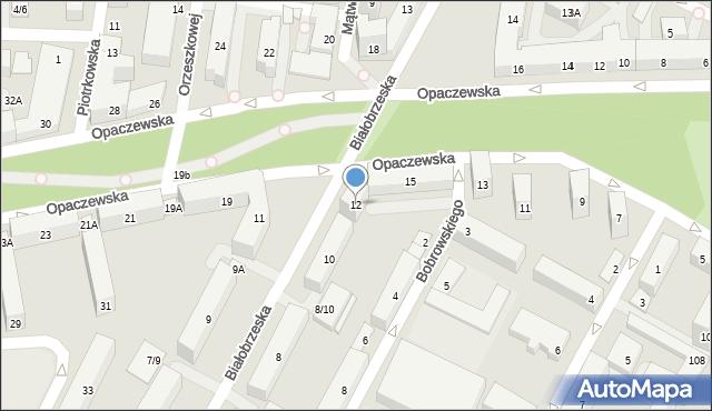 Warszawa, Białobrzeska, 12, mapa Warszawy