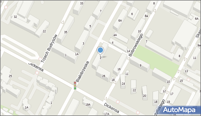 Warszawa, Białobrzeska, 2, mapa Warszawy