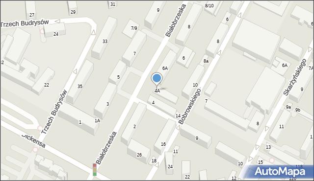 Warszawa, Białobrzeska, 4A, mapa Warszawy