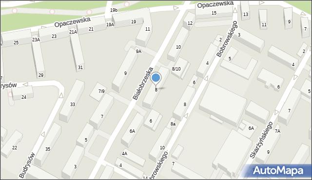 Warszawa, Białobrzeska, 8, mapa Warszawy