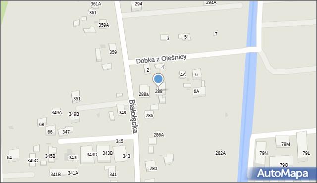 Warszawa, Białołęcka, 288, mapa Warszawy