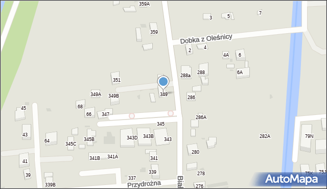 Warszawa, Białołęcka, 349, mapa Warszawy