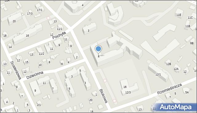 Białystok, Blokowa, 4, mapa Białegostoku