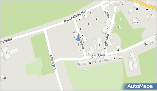 Bytom, Bluszczowa, 6, mapa Bytomia