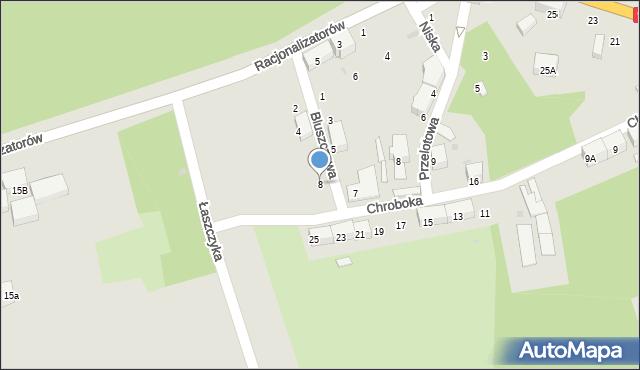 Bytom, Bluszczowa, 8, mapa Bytomia