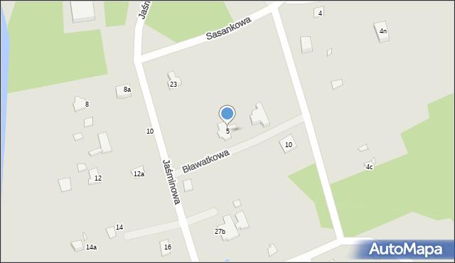 Grudziądz, Bławatkowa, 5, mapa Grudziądza
