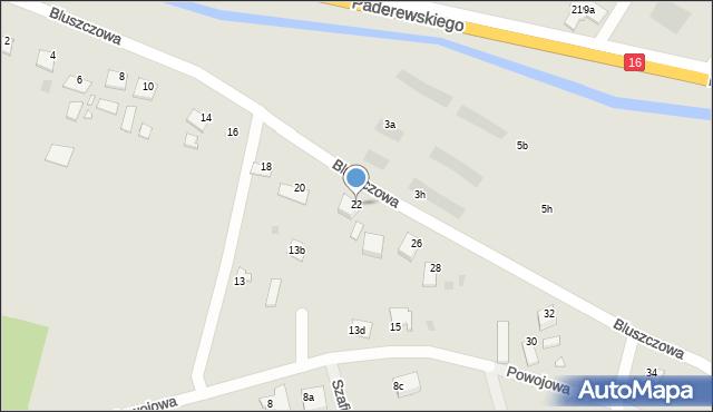Grudziądz, Bluszczowa, 22, mapa Grudziądza